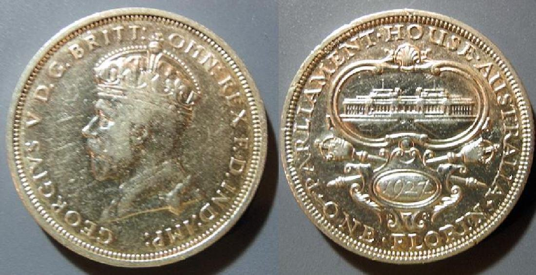 Australia 1927 1 Florin Opening of the Parliament House