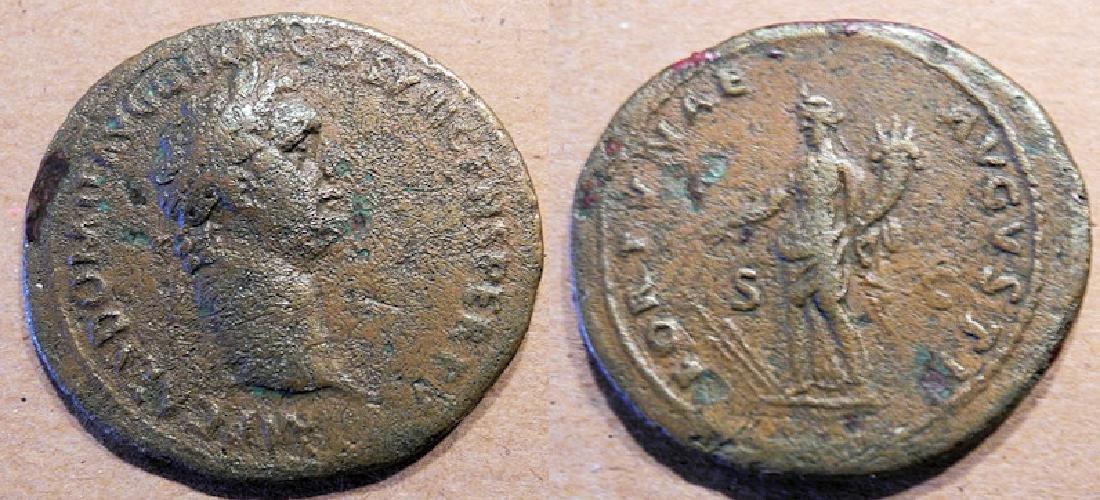 Ancient Roman bronze Domitian 81-96 AD 1 / 12 Caesars