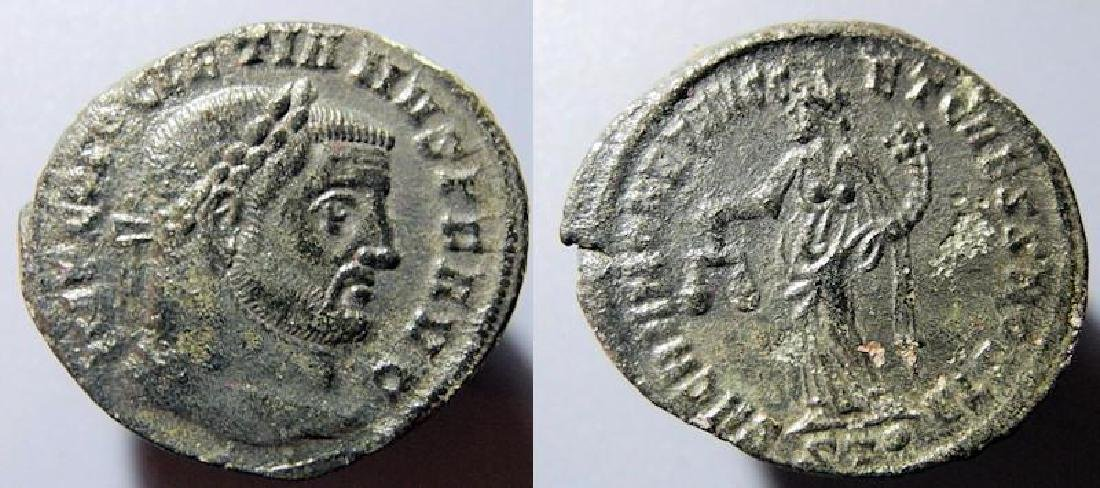 Diocletian, 286-305 AD, AE follis, SACRA MONET reverse