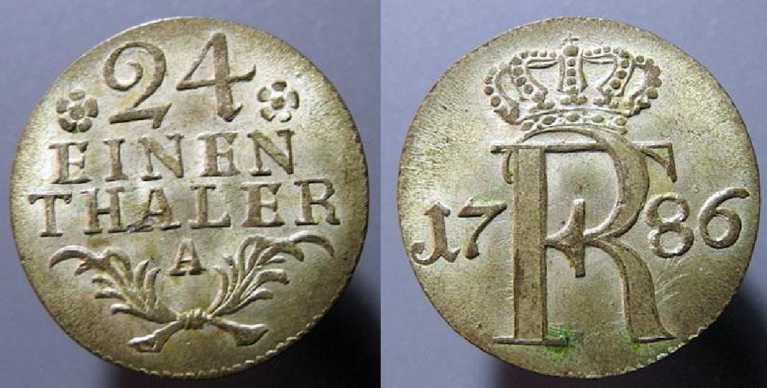 Germany, Prussia, 1/24th of a thaler, 1786-A