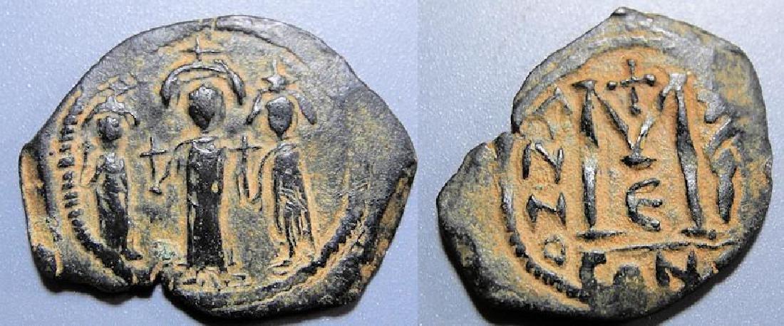 Byzantine AE follis Heraclius 610-641 AD Constantinople