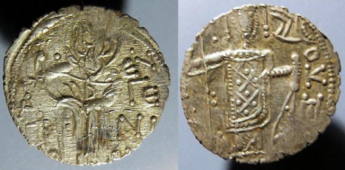 Byzantine silver Manuel I Comnenus 1238-1263 AD asper