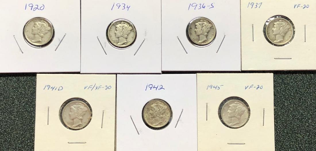 7 Mercury Dimes