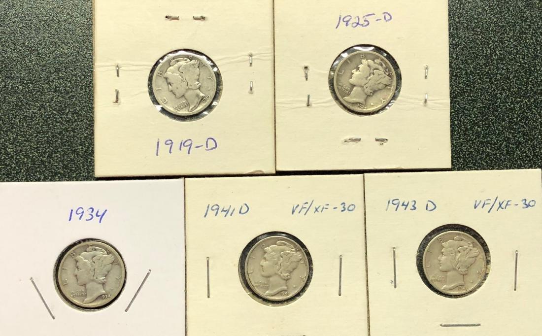 5 Mercury Dimes