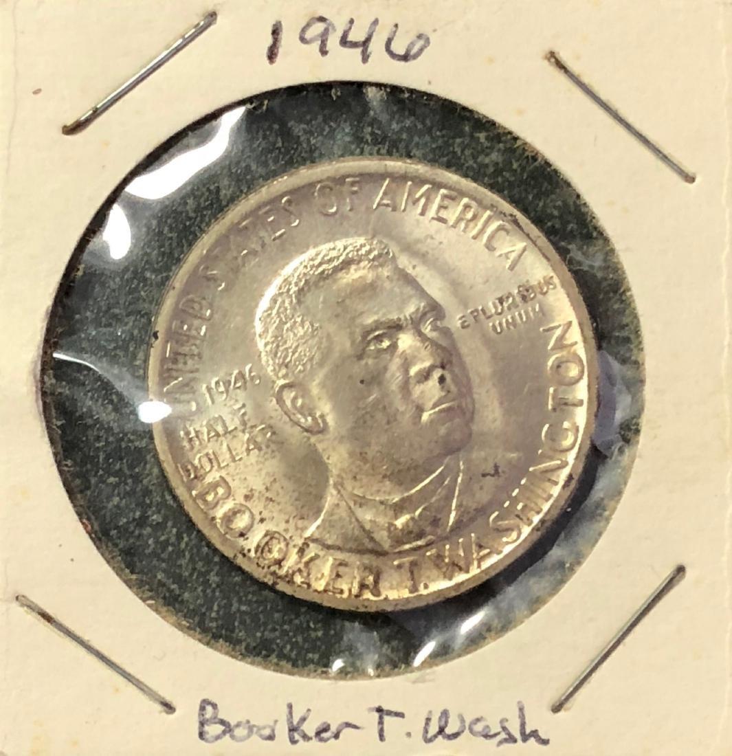 1946 Booker T Washington Silver Half Dollar