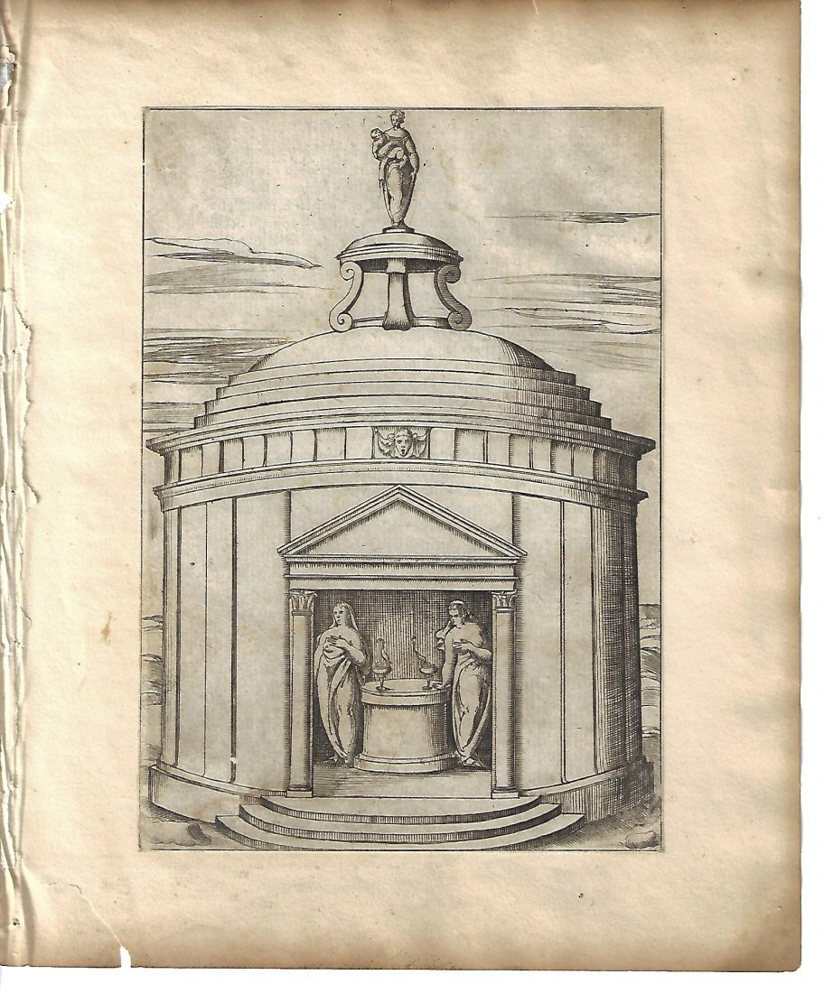 1587 Vincenzo Cartari Mythology Engraving