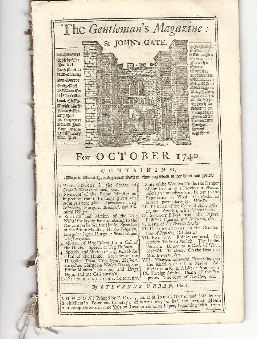 1740 Gentleman's Magazine Coinage Sir Francis Drake