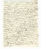 1692 English Letter Samuel Buck