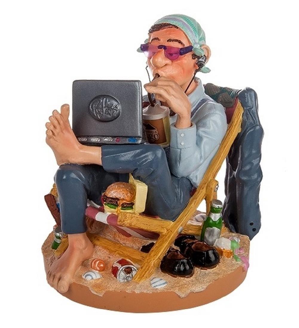 Profisti Collection: Businessman on the Beach statue