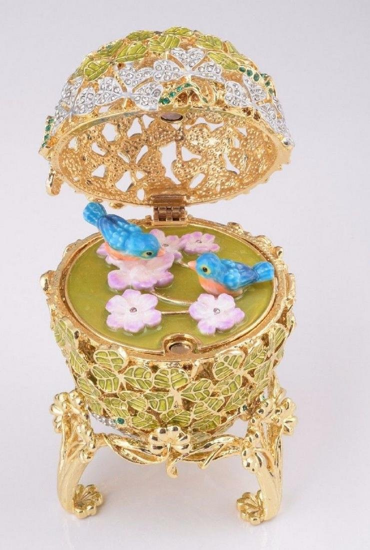 Fabergé Style Egg - Jewelery box with Birds