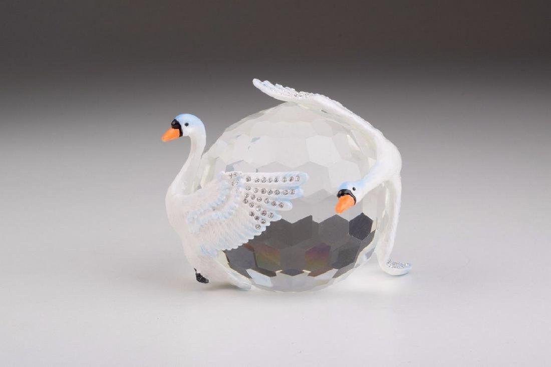 Fabergé Style Big Crystal with Swans