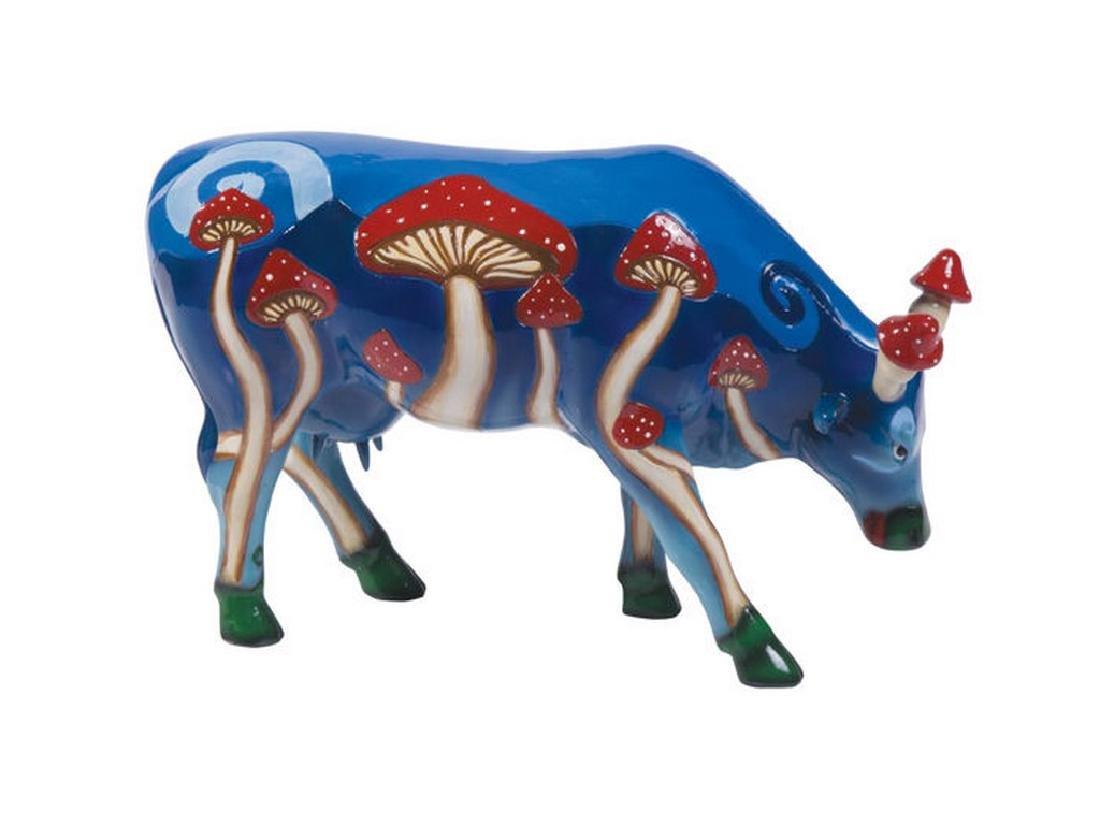 CowParade: Magic Mushy Cow statue