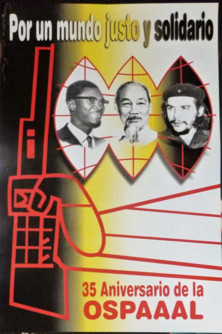 Patrice Lamumba Ho Chi Minh Che World Solidarity Poster