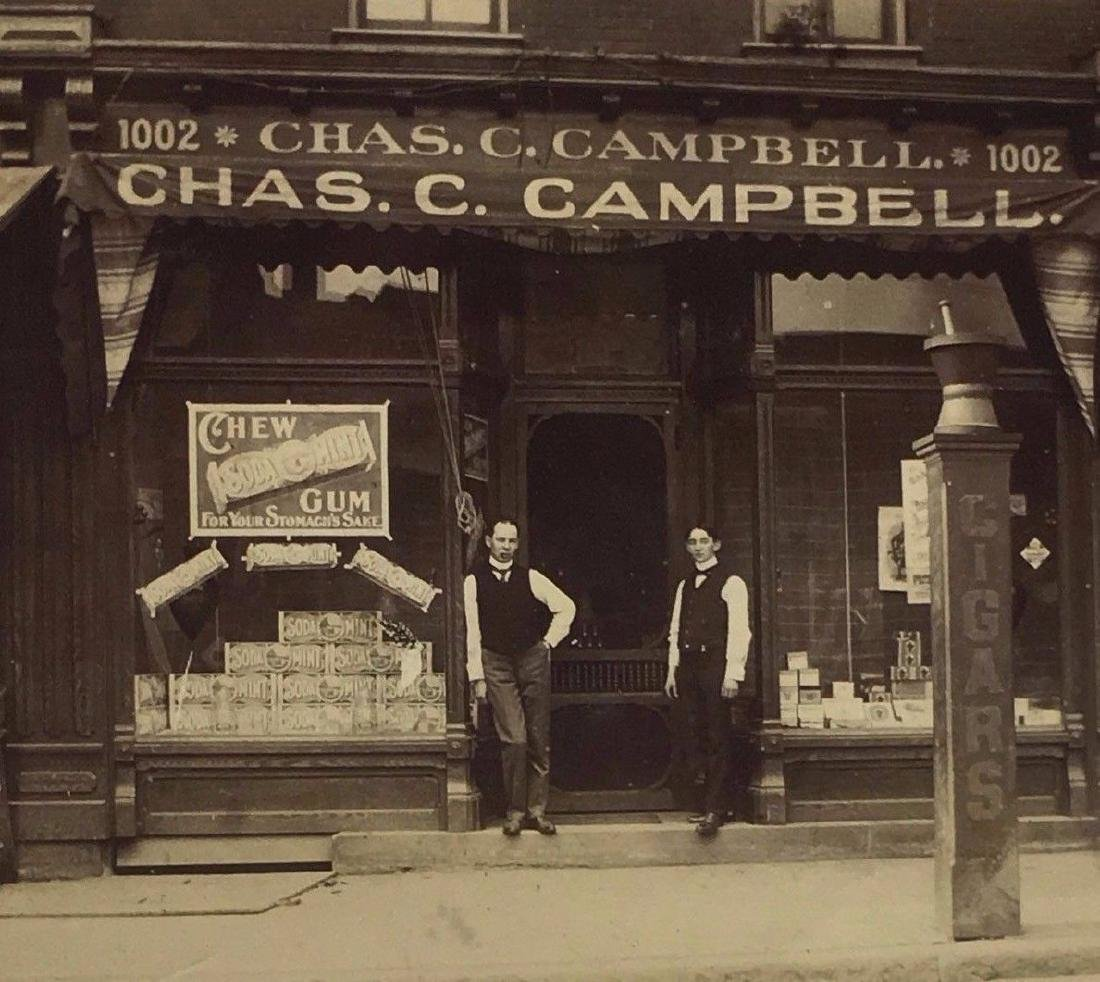 Antique 1900 Cigar Store Window Display Signs Photo