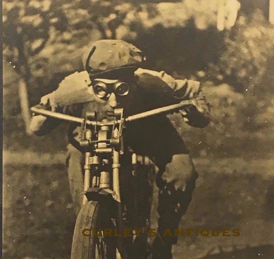 Antique 1910s BEST Motorcycle Rider Goggles Art Photo