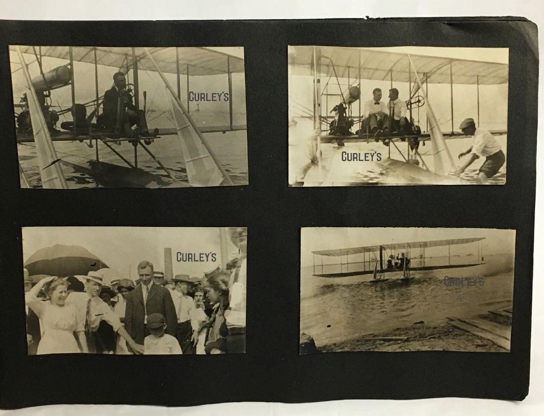 Antique 1913 Wright Brothers Biplane Hydroplane Album