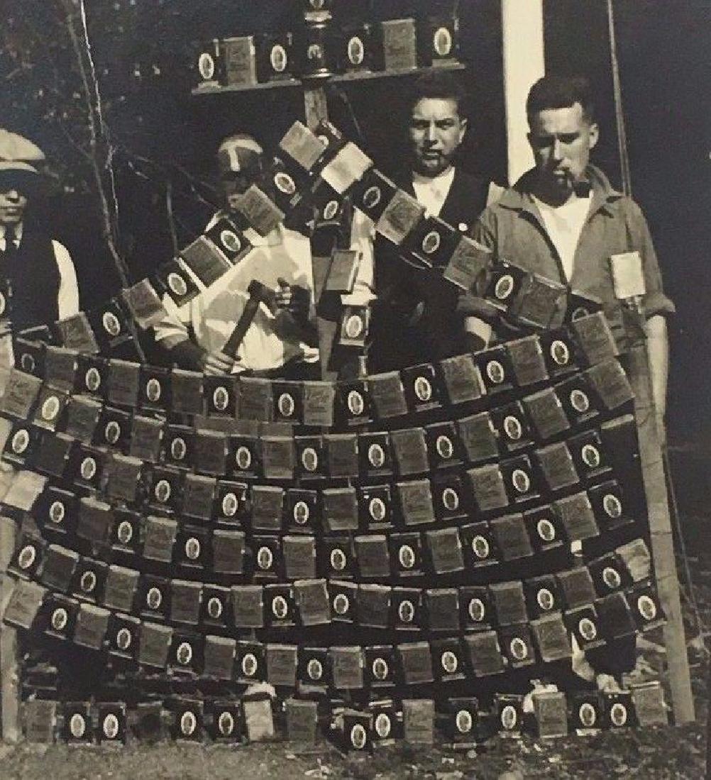 Antique 1920 Smoking Tobacco Tin Store Display Photo