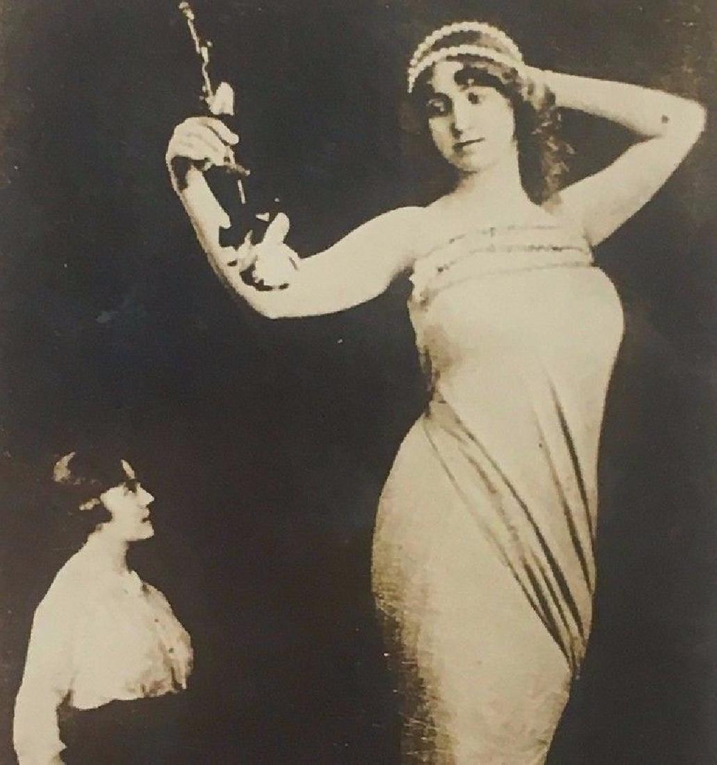 Antique 1910 German Beauty Giantess Amalie Circus Photo