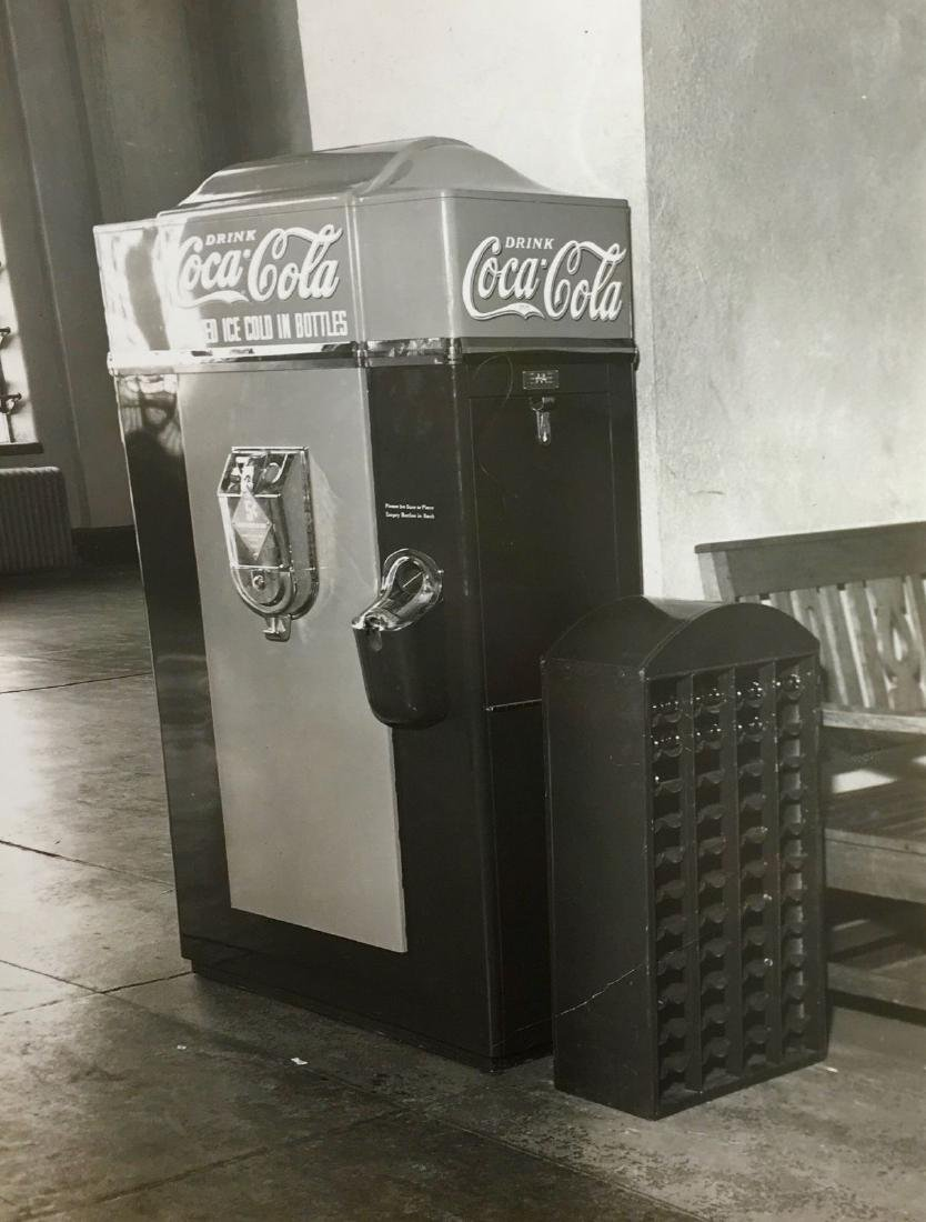 Antique 1930 Coca Cola Bottle Vending Machine Ad Photo