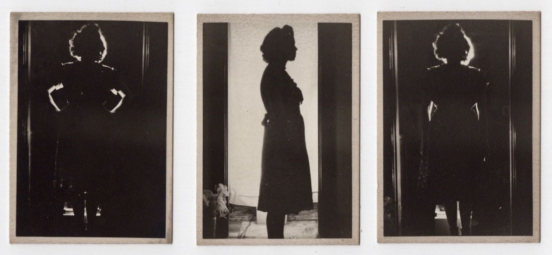 Antique 1930s Stunning Woman Silhouette Series Photos