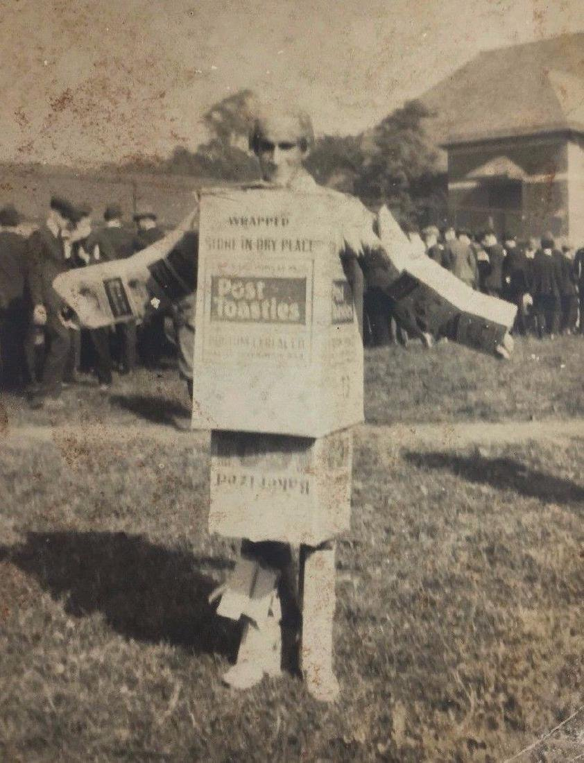 Vintage 1930 Post Toasties Cereal Box Costume Ad Photo