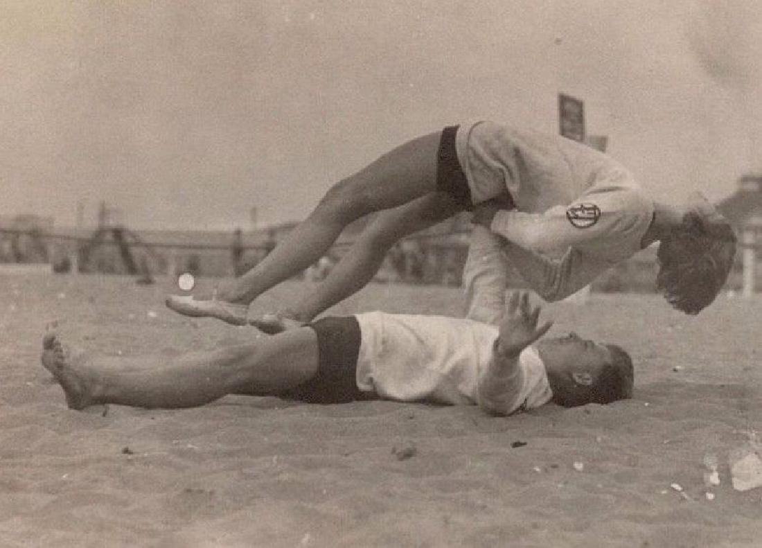 Vintage 1930s Beach Action Pose Photo