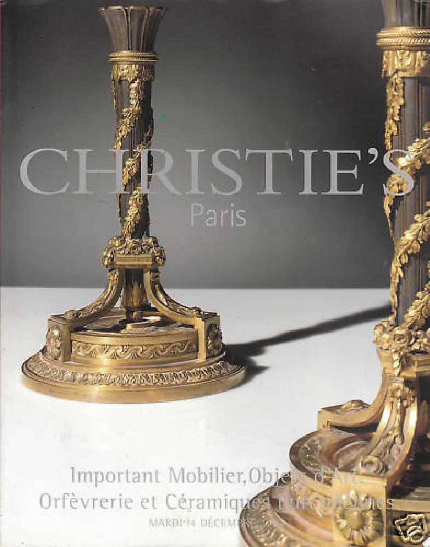 Christie's Paris Mobilier Objets D'art Catalogue 2004