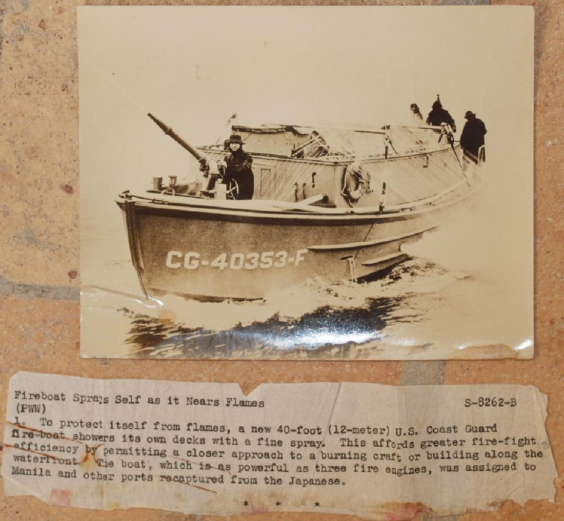 Photo Fireboat Us Military Pacific War 1943 Circa