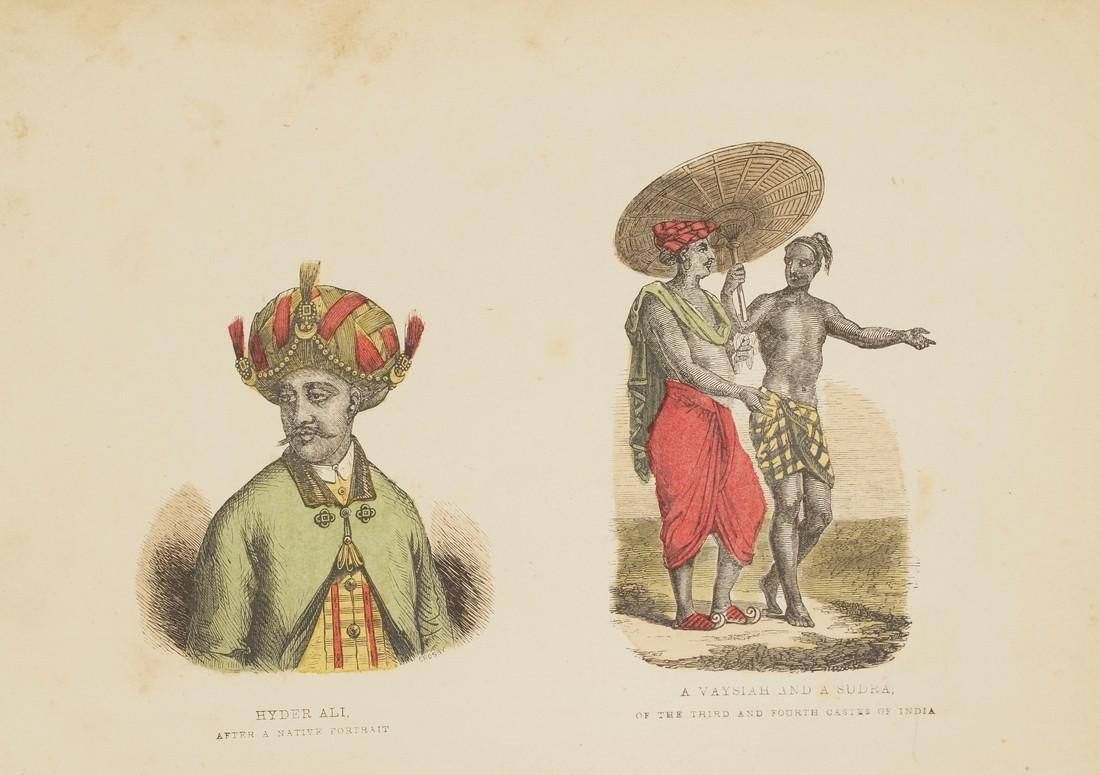 Hyder Ali Vaysiah & Sudra India 1870 Chromolithograph