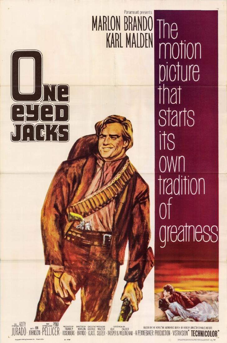 One-eyed Jacks 1961 Marlon Brando Us One-sheet