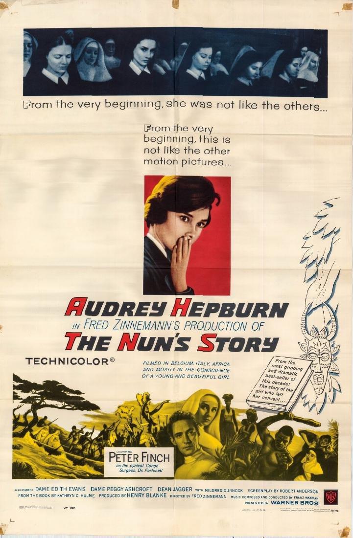 The Nun's Story 1959 Audrey Hepburn Us One-sheet