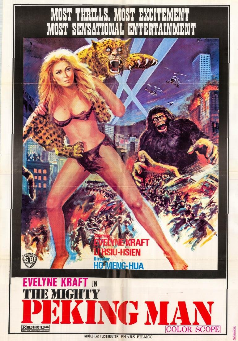 Mighty Peking Man 1977 Evelyne Kraft Lebanese Poster