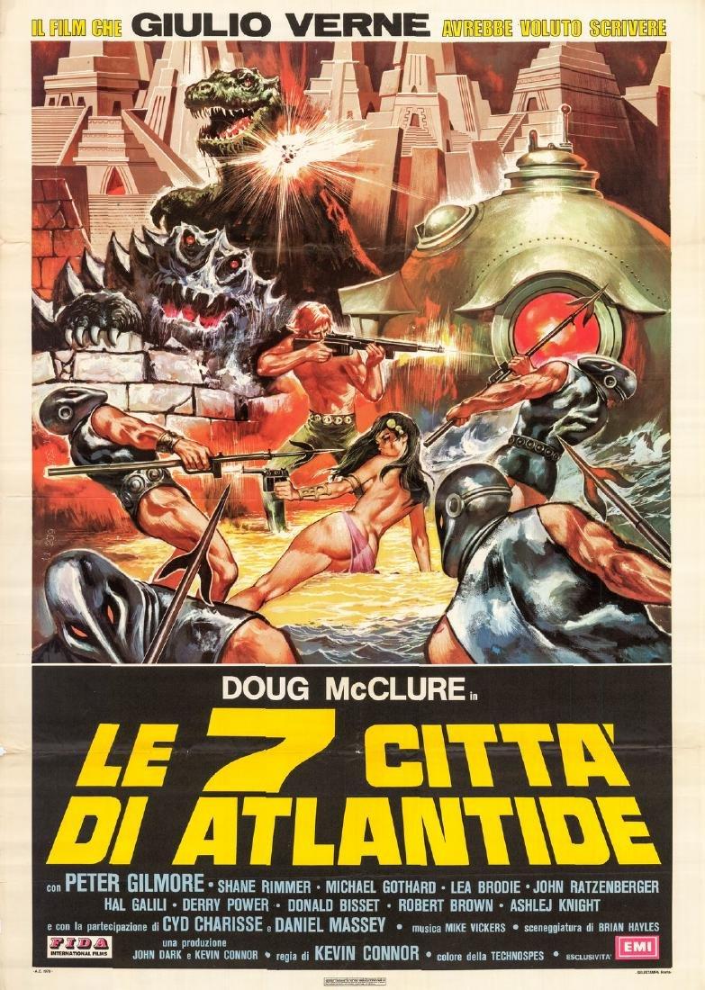 Seven Cities Atlantis 1978 Doug Mcclure Italian 2-sheet