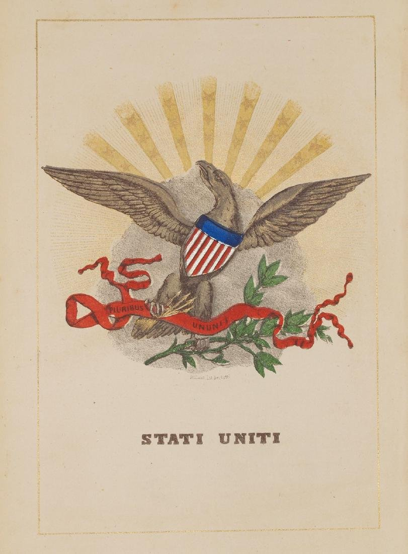 Coat of Arms United States 1860 Circa Chromolithograph
