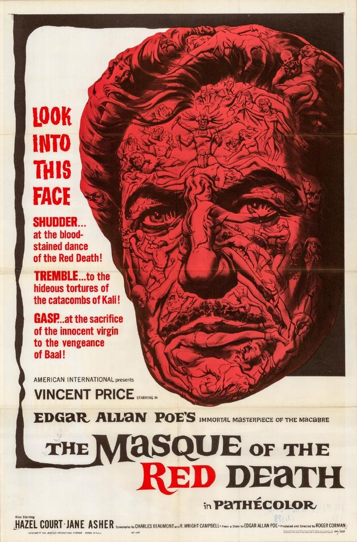 Masque of Red Death 1964 Vincent Price One-sheet
