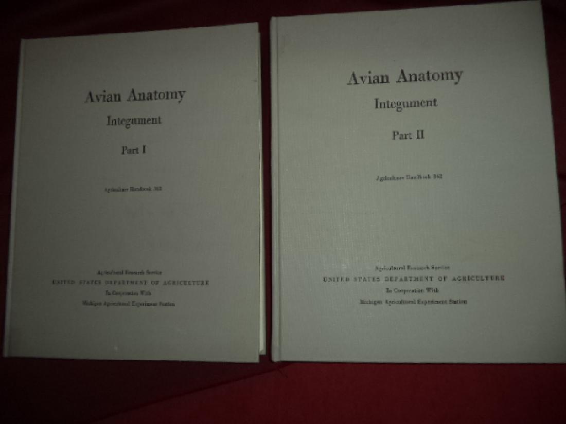 Avian Anatomy Integument 2 volumes Part I & Part II