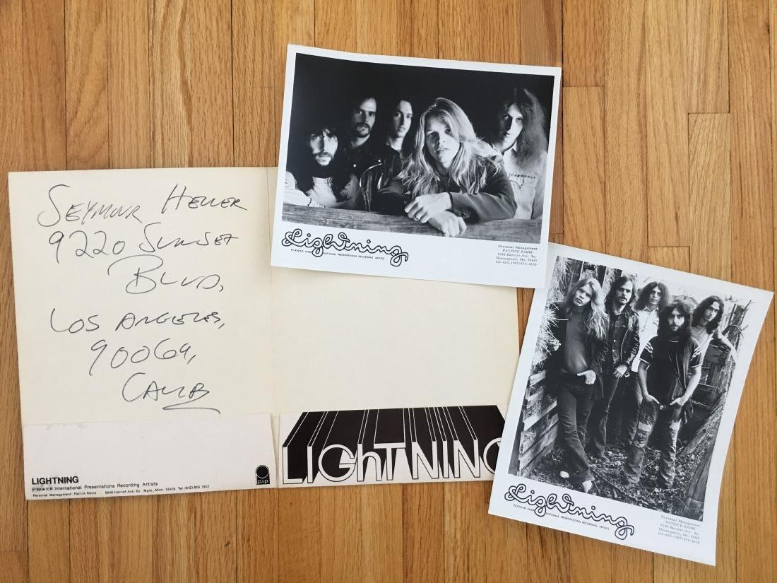LIGHTNING (band) PRESS PHOTOS and PRESS KIT