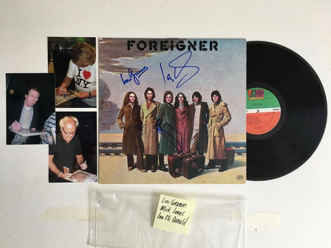 FOREIGNER MULTIPLE SIGNED ALBUM