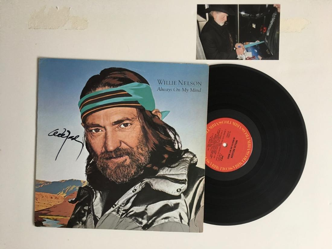 WILLIE NELSON SIGNED ALBUM