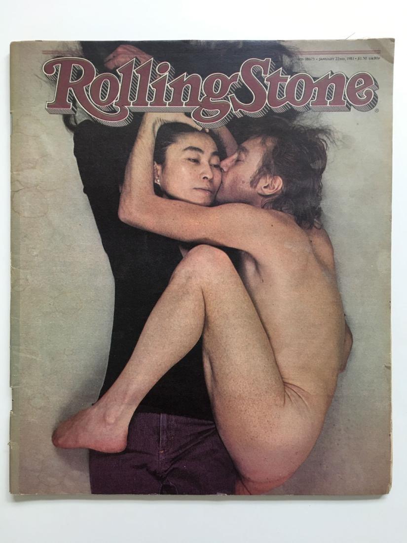 JOHN LENNON - YOKO ONO ROLLING STONE MAGAZINE