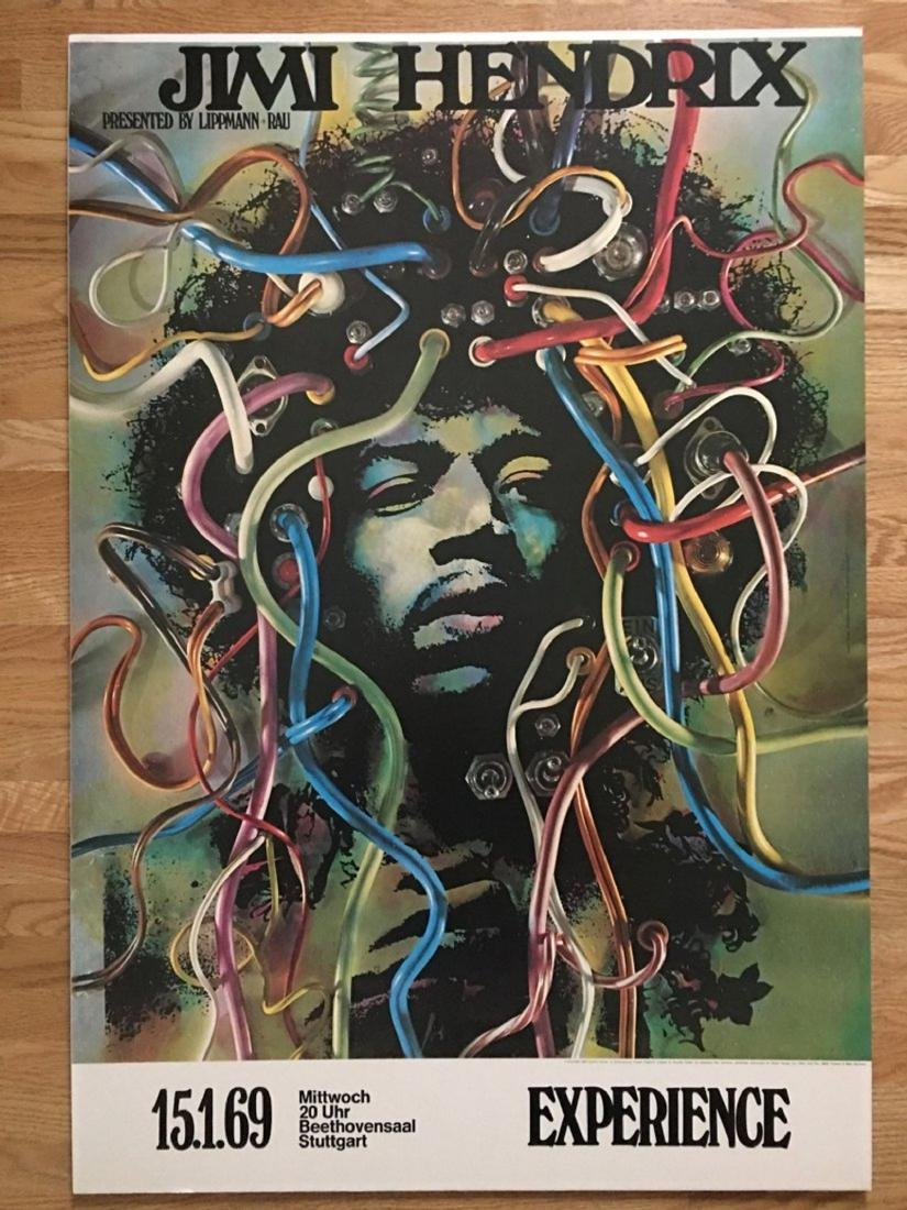 WIRED !!! JIMI HENDRIX POSTER! NEVER UNROLLED! SEALED!