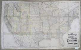 Rand McNally: Antique Railroad Map of the United States
