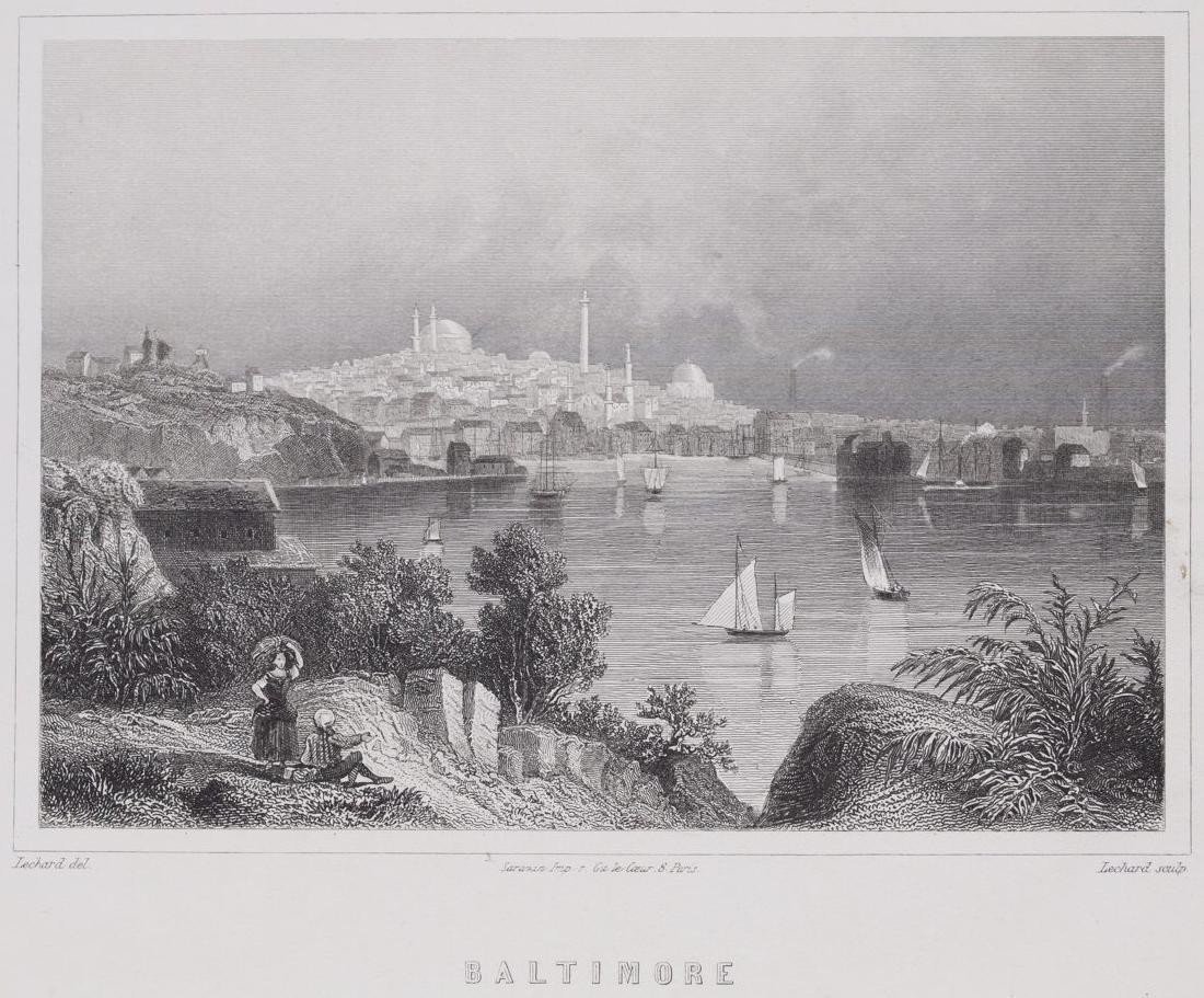 Animated View Baltimore Maryland United States Lechard