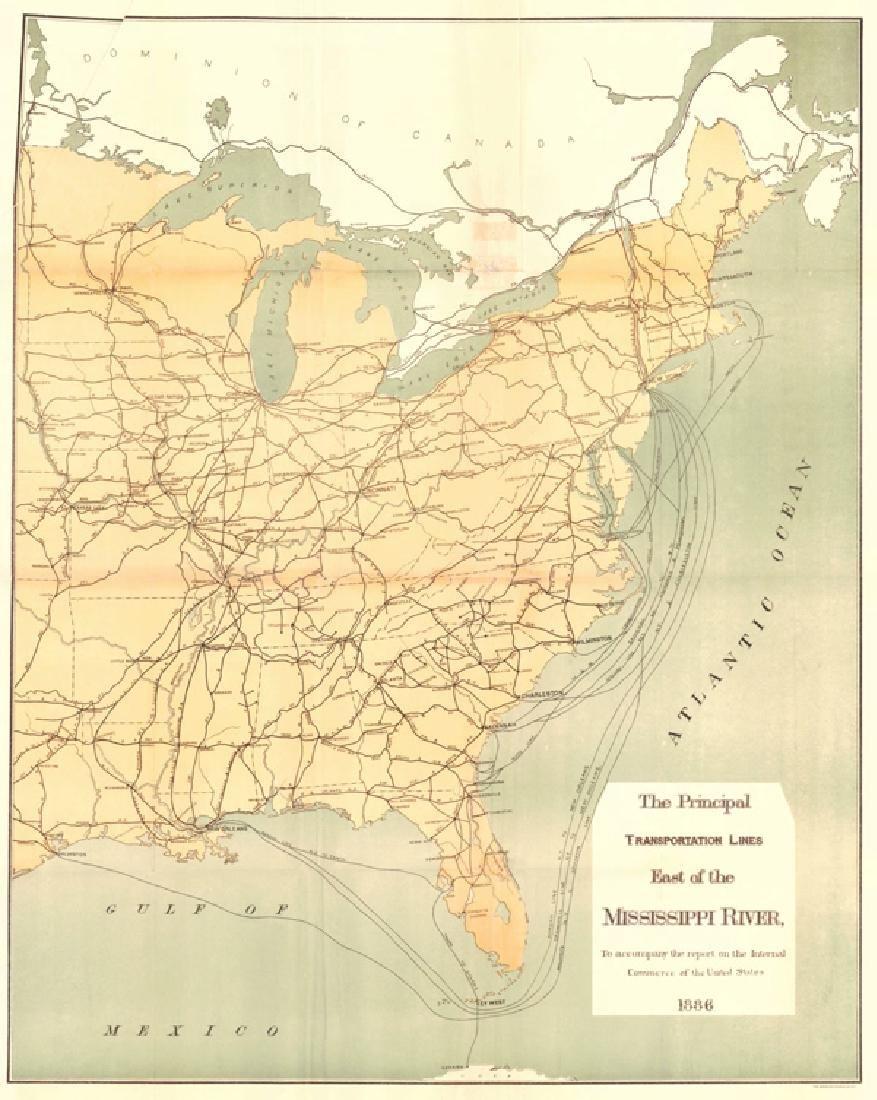 Principal Transportation Lines East of The Mississippi