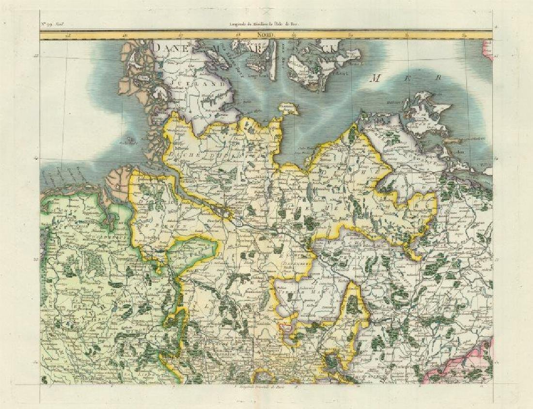 Chanlaire/Mentelle: Map of Northern Germany, 1806