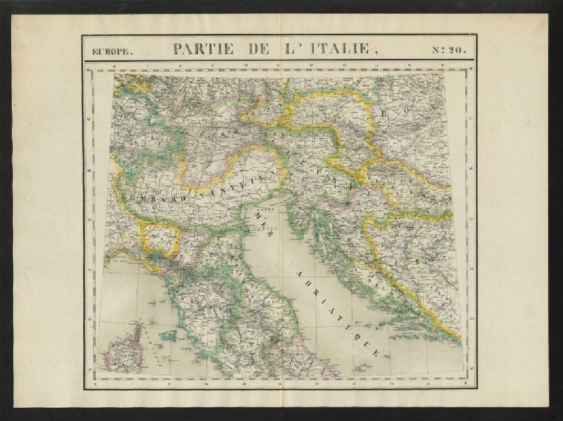 Vandermaelen: Antique Map of Northern Italy, 1827