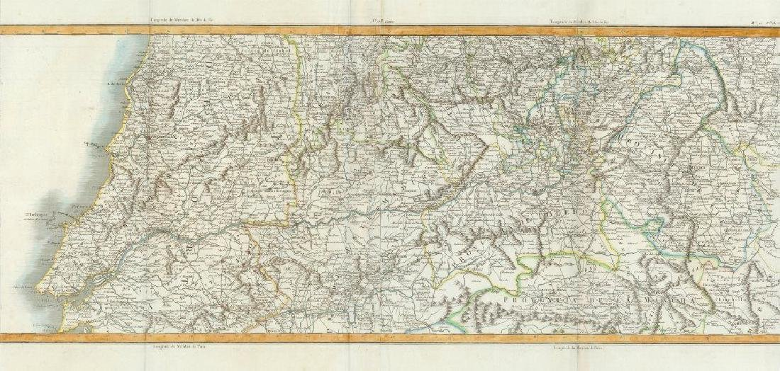 Chanlaire/Mentelle: Antique Map of Tagus River valley