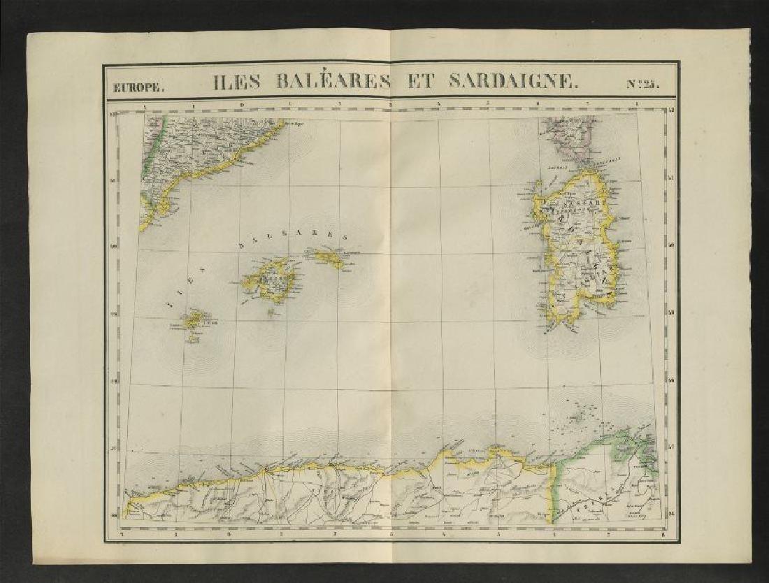 Vandermaelen: Antique Map of Balearic islands, 1827