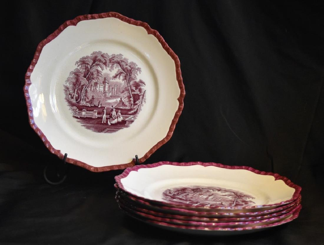 Mason's Ironstone Set of 6 Mulberry Transferware Plates