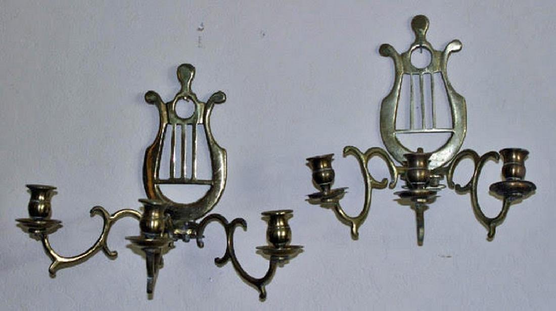Antique Brass Sconces